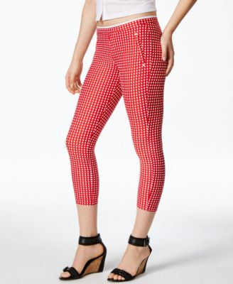 Hue Checkered Knit Capri Leggings