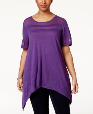 American Rag Plus Size Illusion T-Shirt, Only at Vogily