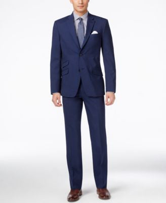 Tommy Hilfiger Men's Medium Blue Sharkskin Classic-Fit Suit