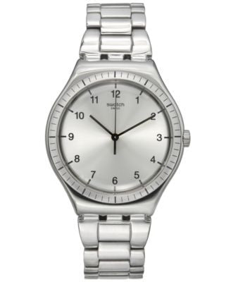Swatch Unisex Swiss Power Tracking Stainless Steel Bracelet Watch 41mm YWS100G