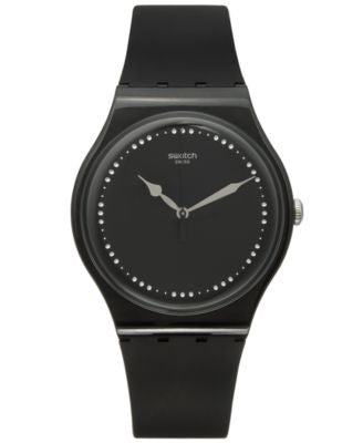 Swatch Unisex Swiss Power Tracking Black Silicone Strap Watch 41mm SUOB131