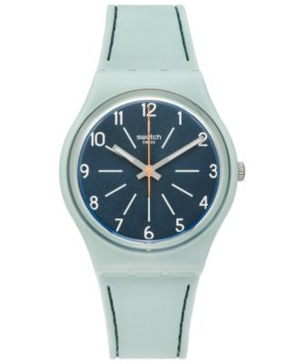 Swatch Unisex Swiss Power Tracking Blue Silicone Strap Watch 34mm GM184