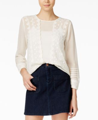 Maison Jules Embroidered Peasant Top, Only at Vogily