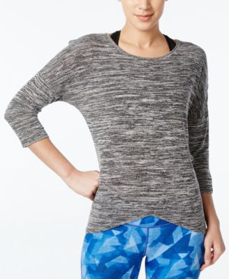 Ideology Space-Dyed Three-Quarter-Sleeve Top, Only at Vogily