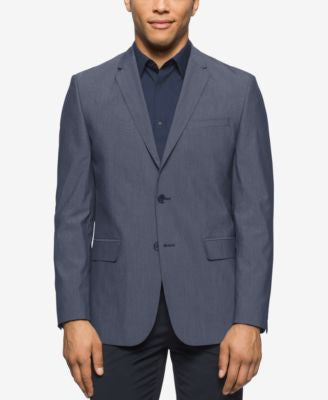 Calvin Klein Men's Chambray Traveler Sport Coat