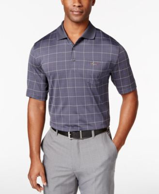 Greg Norman for Tasso Elba Men's Windowpane Golf Polo