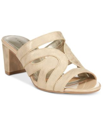 Karen Scott Daere Block Heel Sandals, Only at Vogily