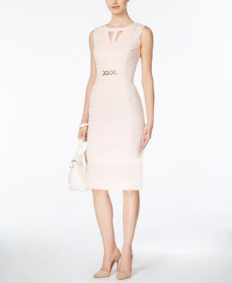 Tahari ASL Embellished Sleeveless Sheath Dress