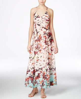 RACHEL Rachel Roy Sleeveless Floral-Print Maxi Dress