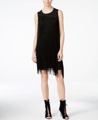 RACHEL Rachel Roy Fringe Illusion Shift Dress