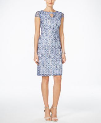 Style & Co. Printed Cap-Sleeve Sheath Dress, Only at Vogily