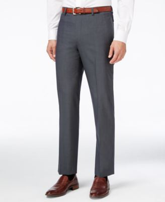 Calvin Klein Men's Heather Green Slim-Fit Dress Pants