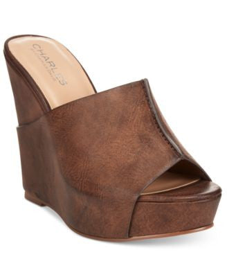 CHARLES by Charles David Alamo Mule Wedges