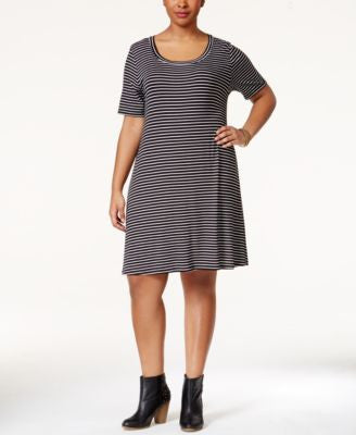 American Rag Plus Size Striped Dress, Only at Vogily