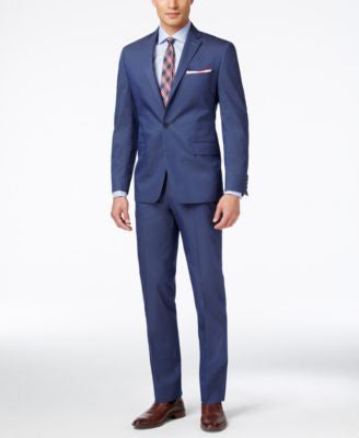 Ryan Seacrest Distinction Men's Blue Twill Slim-Fit Suit, Only at Vogily