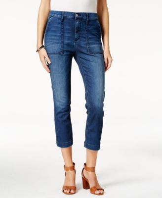 Buffalo David Bitton Inka Cropped Mazarine Wash Jeans