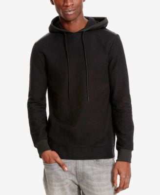 Kenneth Cole Reaction Men's Faux Leather Perforated Hoodie