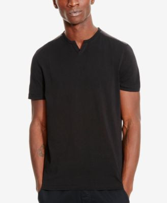 Kenneth Cole Reaction Men's Perforated Split-Neck T-Shirt