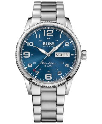 BOSS Hugo Boss Men's Pilot Stainless Steel Bracelet Watch 44mm 1513329