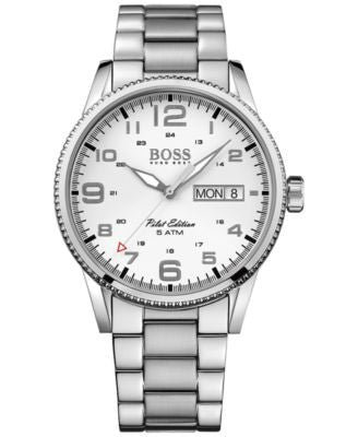 BOSS Hugo Boss Men's Pilot Stainless Steel Bracelet Watch 44mm 1513328