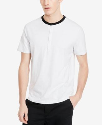 Kenneth Cole New York Men's Jacquard Henley