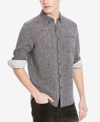 Kenneth Cole New York Men's Chambray Long-Sleeve Shirt