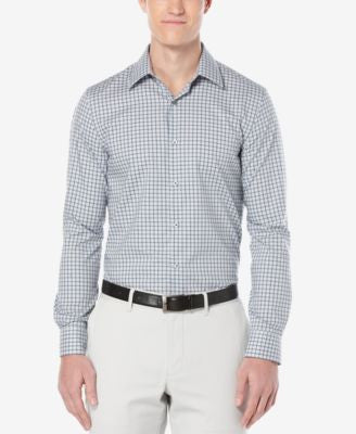 Perry Ellis Men's Chrysalis Checked Long-Sleeve Shirt