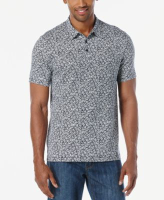 Perry Ellis Men's Worthington Textured Print Pima Polo