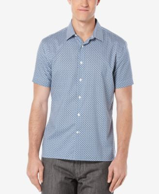 Perry Ellis Men's Mini-Disc Short-Sleeve Shirt