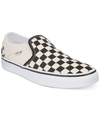 Vans Women's Asher Checkerboard Slip-On Sneakers
