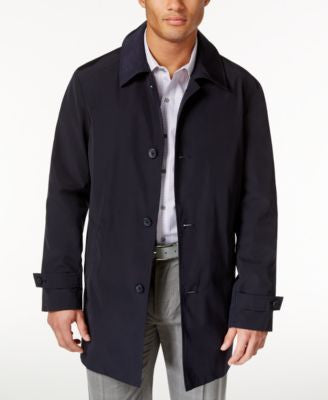 Kenneth Cole New York Men's RAY Button-Front Raincoat