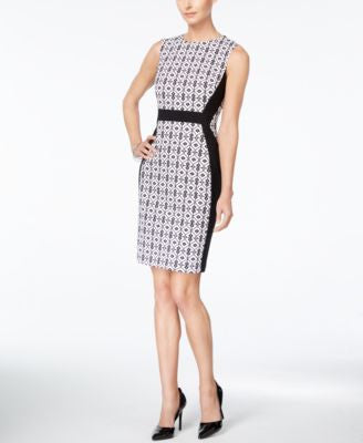 Nine West Jacquard Sheath Dress