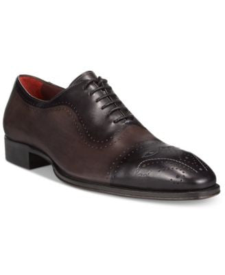 Mezlan Men's Burnished Cap Toe Oxfords