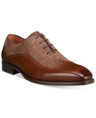 Mezlan Men's Plaid Print Wingtip Oxfords