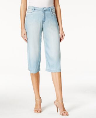 Calvin Klein Jeans Crystal Blue Wash Culottes