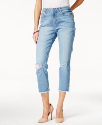 Earl Jeans Cropped Light Wash Jeans