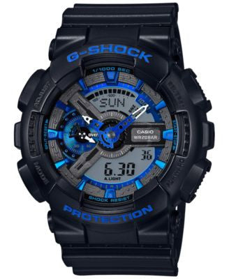 G-Shock Men's Analog-Digital Black Resin Bracelet Watch 55x51mm GA110CB-1A