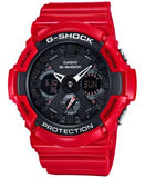 G-Shock Men's Analog-Digital Red Resin Bracelet Watch 51mm GA201RD-4A