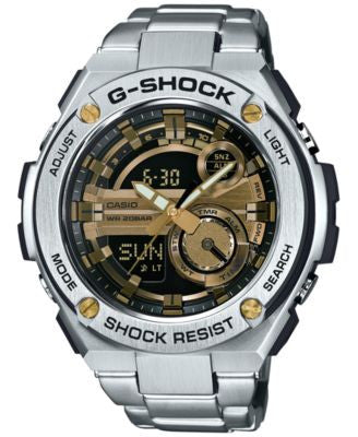 G-Shock Men's Analog-Digital Silver-Tone Resin Bracelet Watch 59x52mm GST210D-9A
