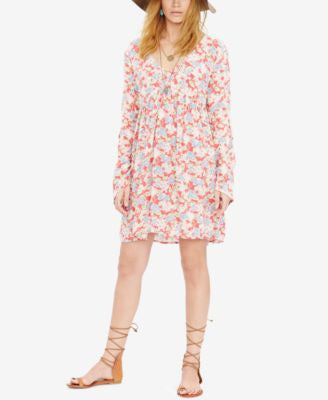 Denim & Supply Ralph Lauren Floral-Print Bell-Sleeve Dress
