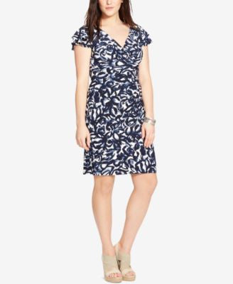 Lauren Ralph Lauren Plus Size Printed Flutter-Sleeve Dress