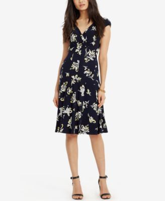 Lauren Ralph Lauren Petite Printed Faux-Wrap Dress