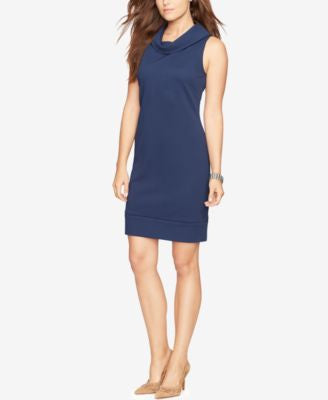 American Living Cowl-Neck Sleeveless Sheath Dress