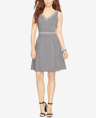 American Living Geometric-Print Jacquard Dress