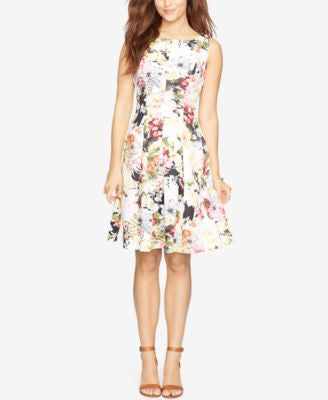 American Living Floral-Print Fit & Flare Dress
