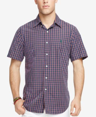 Polo Ralph Lauren Men's Short-Sleeve Plaid Shirt