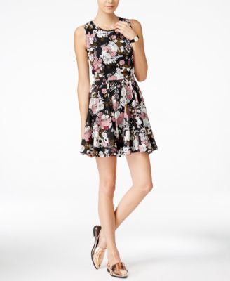 Maison Jules Meadow Floral-Print Fit & Flare Dress, Only at Vogily