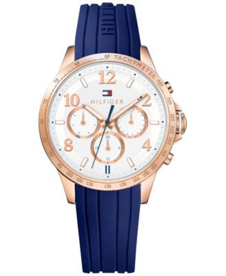 Tommy Hilfiger Women's Sophisticated Sport Blue Silicone Strap Watch 38mm 1781645
