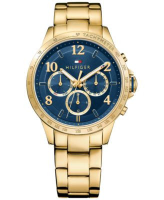 Tommy Hilfiger Women's Sophisticated Sport Gold-Tone Stainless Steel Bracelet Watch 38mm 1781643