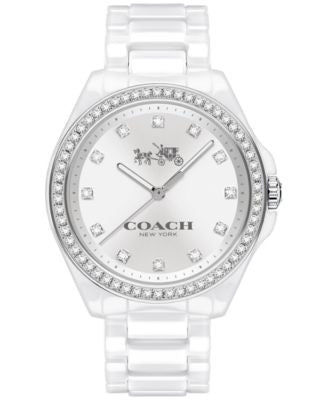 COACH WOMEN'S TRISTEN WHITE CERAMIC BRACELET WATCH 36MM 14502499